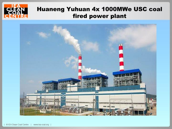 Huaneng Yuhuan 4x 1000MWe USC coal fired power plant