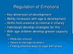 regulation of emotions