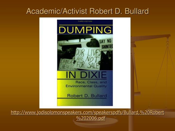 Academic/Activist Robert D. Bullard