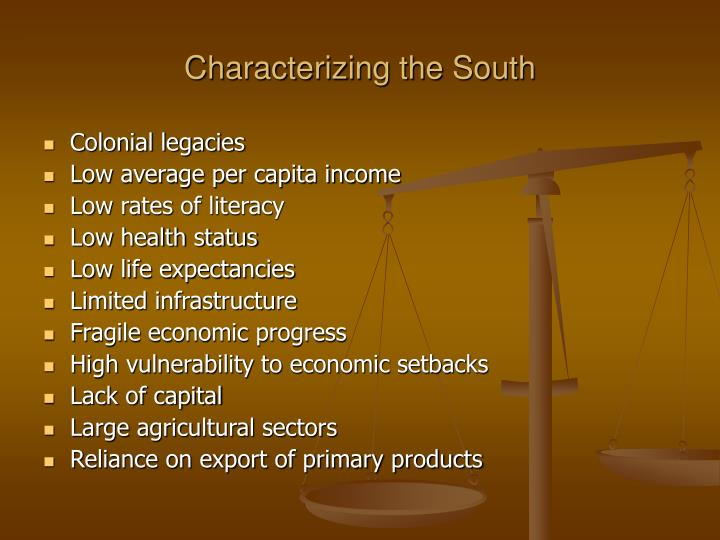 Characterizing the South
