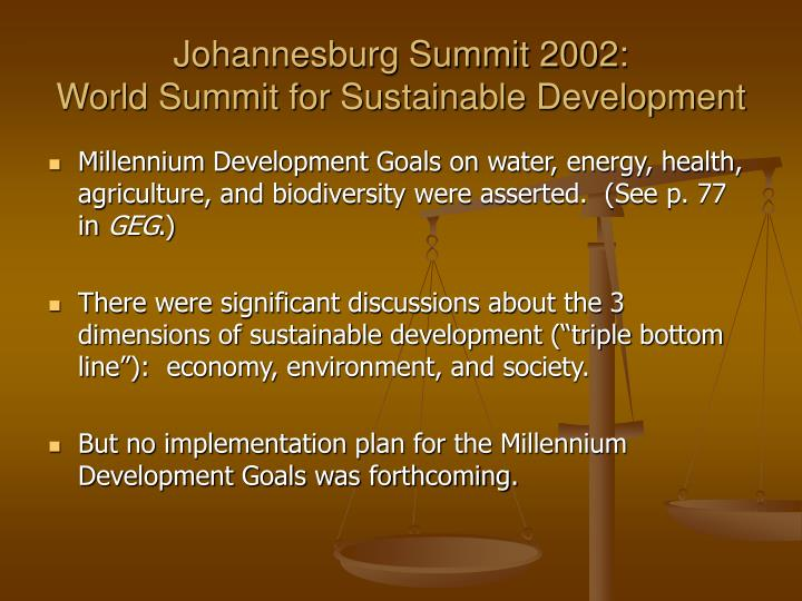 Johannesburg Summit 2002: