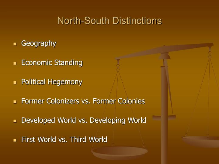 North-South Distinctions