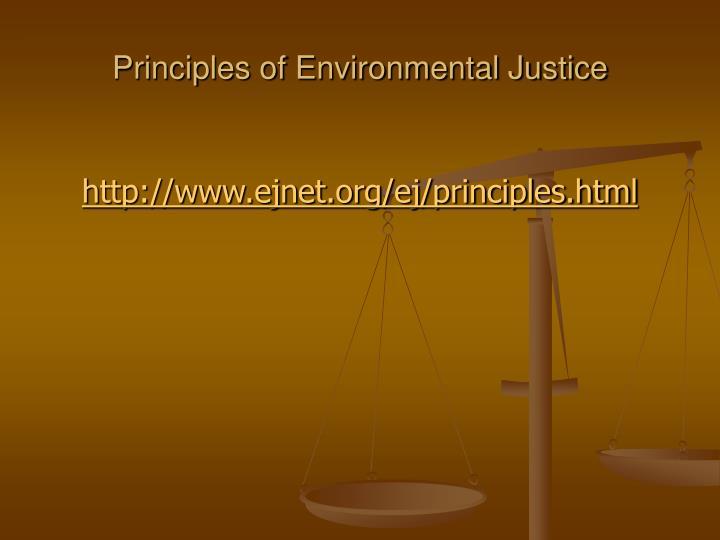 Principles of Environmental Justice