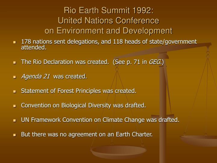 Rio Earth Summit 1992: