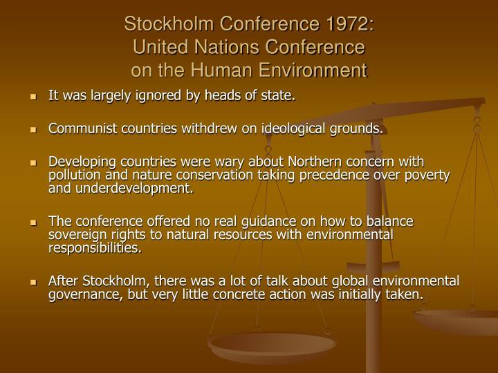 Stockholm Conference 1972: