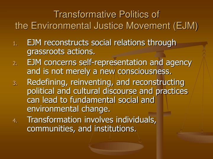 Transformative Politics of