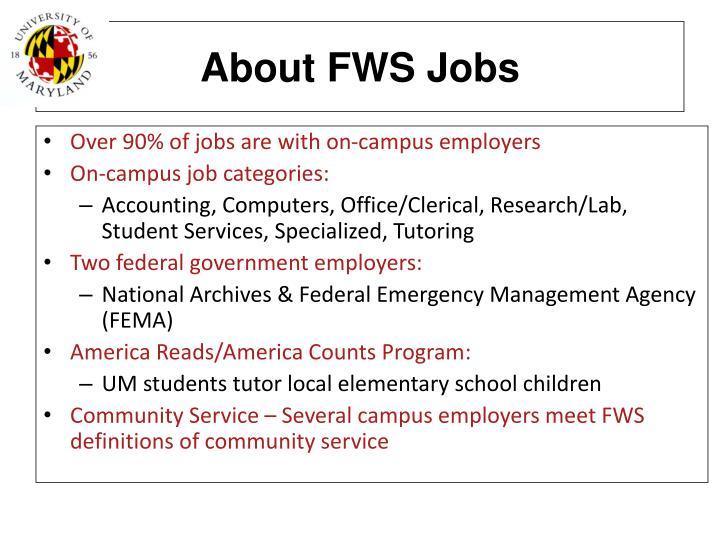 About FWS Jobs
