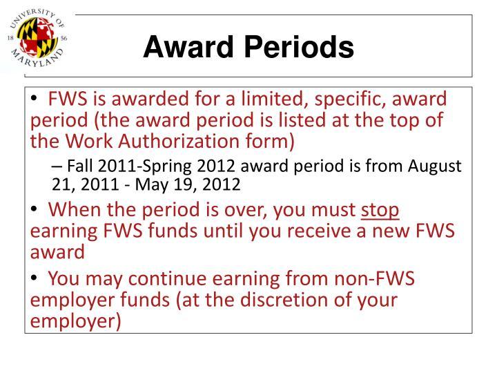 Award Periods