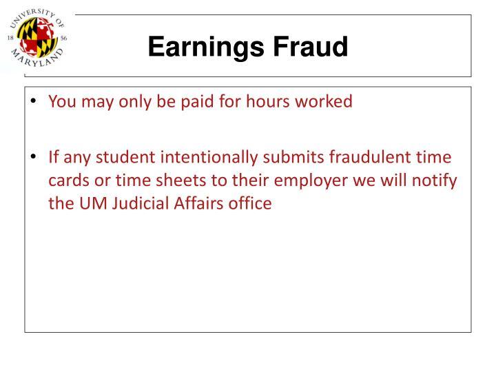 Earnings Fraud