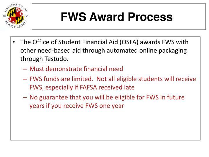 FWS Award Process
