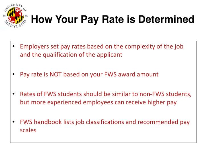 How Your Pay Rate is Determined