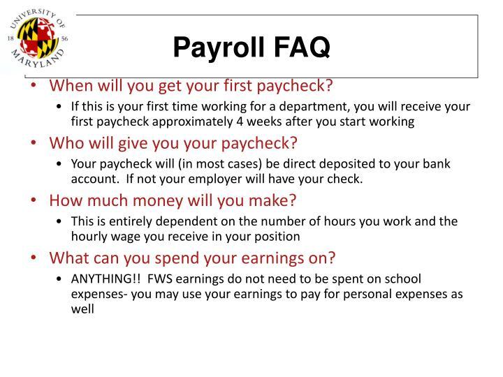 Payroll FAQ