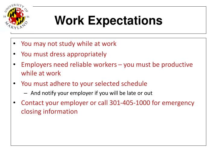 Work Expectations