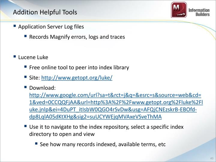 Addition Helpful Tools