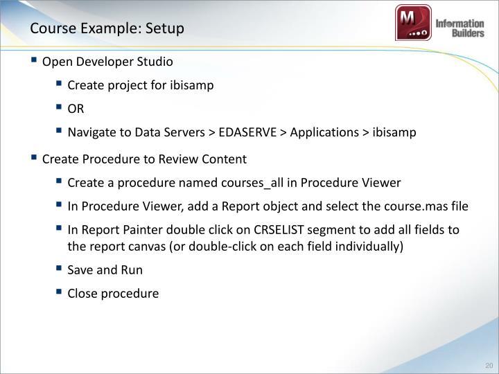 Course Example: Setup