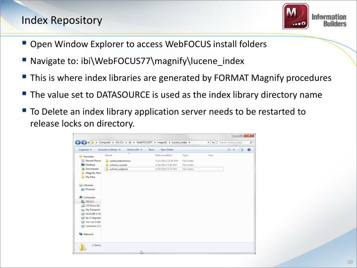 Index Repository