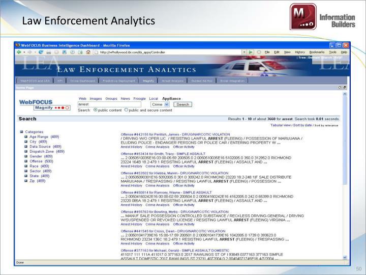 Law Enforcement Analytics