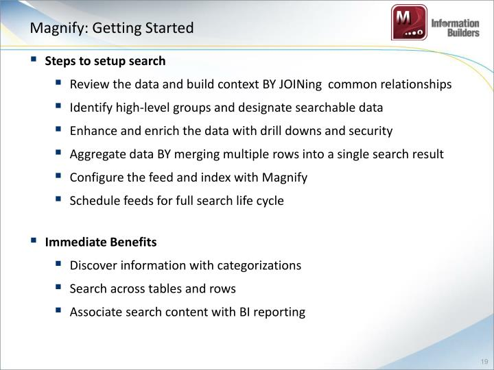 Magnify: Getting Started