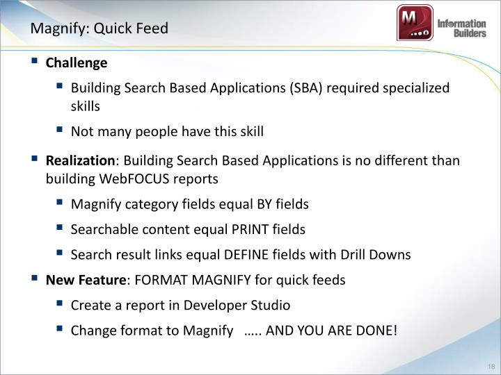 Magnify: Quick Feed