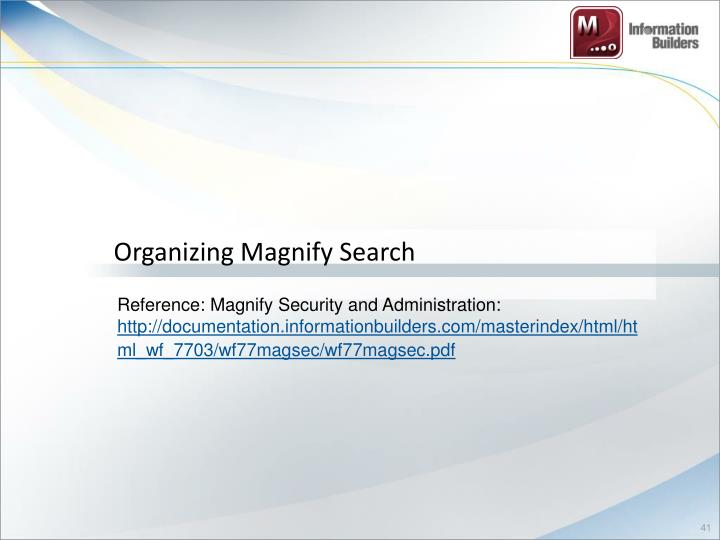 Organizing Magnify Search