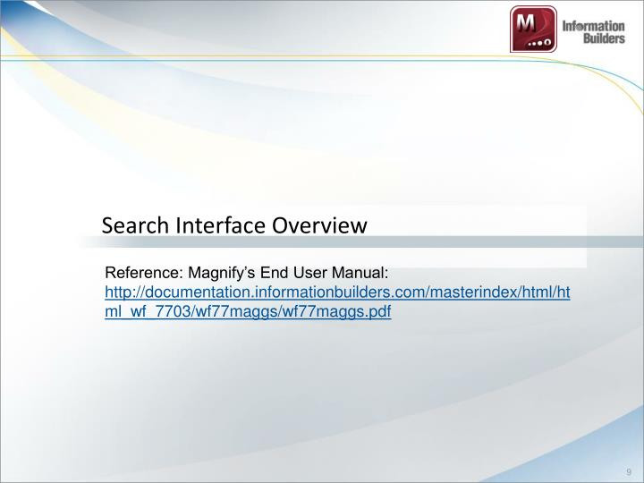 Search Interface Overview