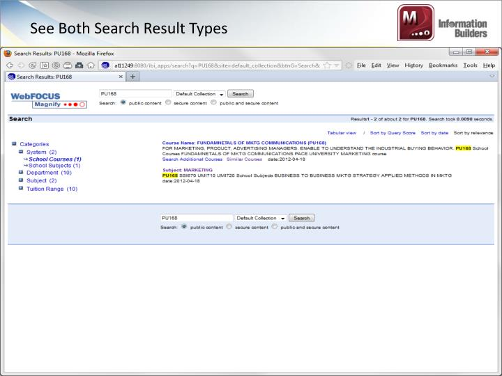 See Both Search Result Types