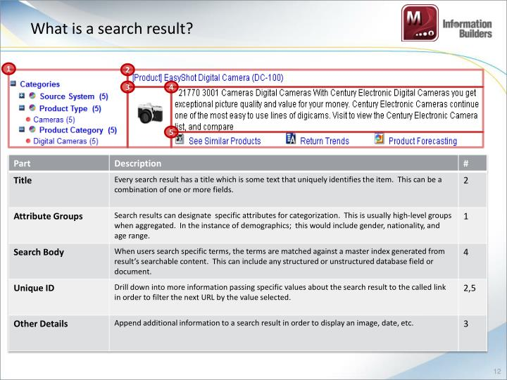 What is a search result?