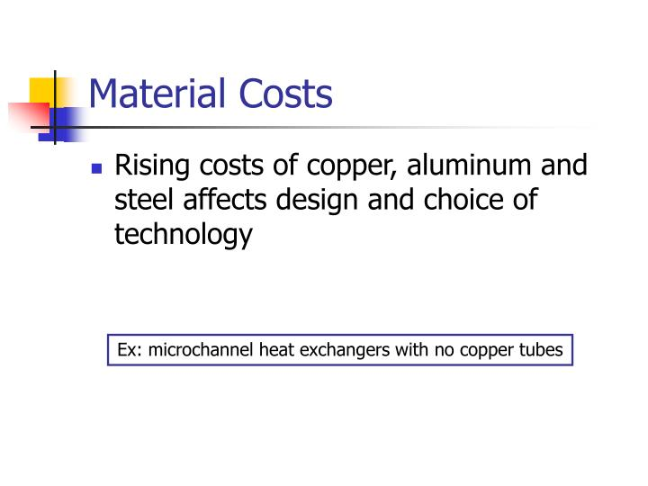 Material Costs