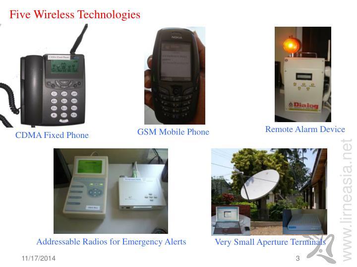 Five wireless technologies