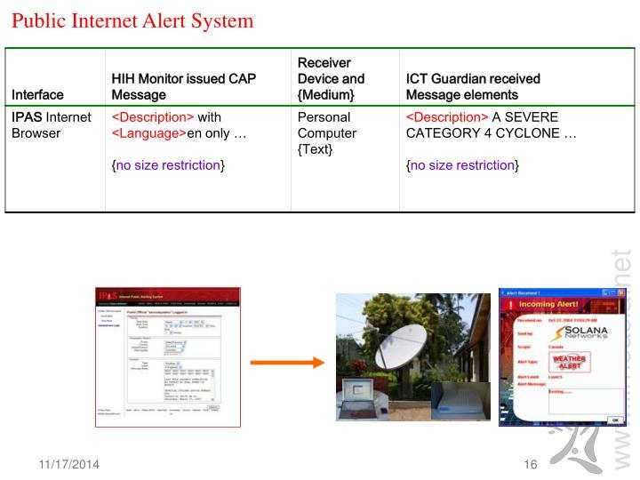 Public Internet Alert System