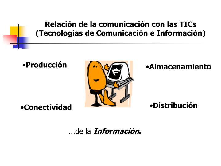 Relación de la comunicación con las TICs (Tecnologías de Comunicación e Información)