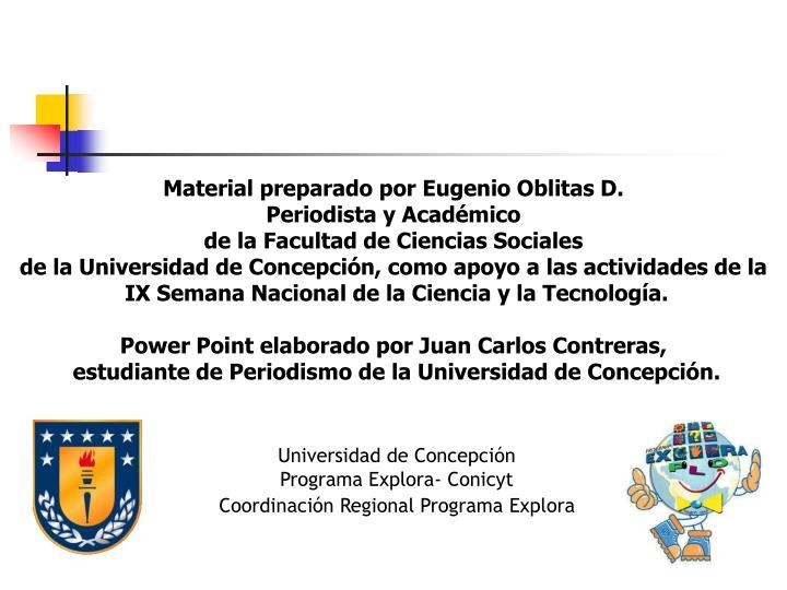 Material preparado por Eugenio Oblitas D.