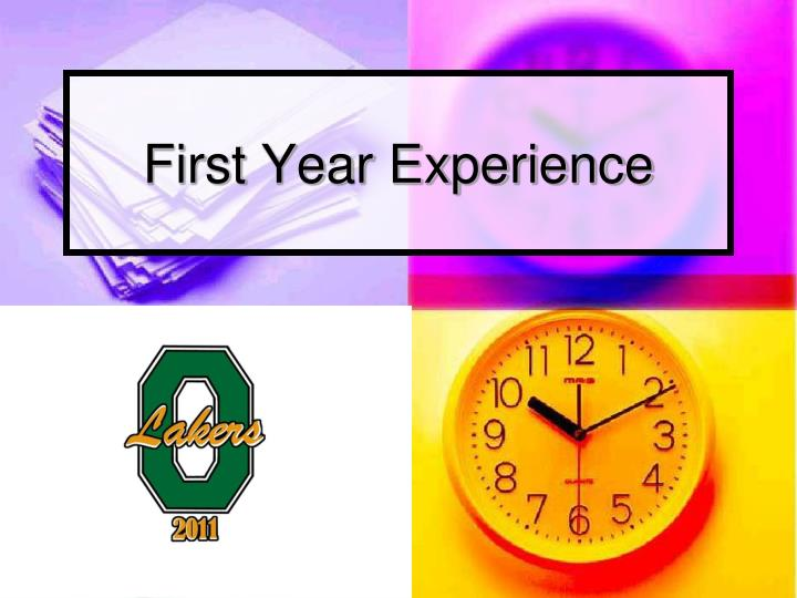 First year experience
