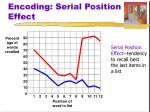 encoding serial position effect