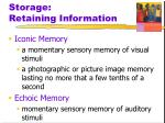 storage retaining information