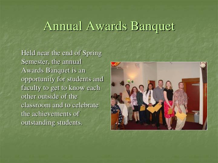 Annual Awards Banquet