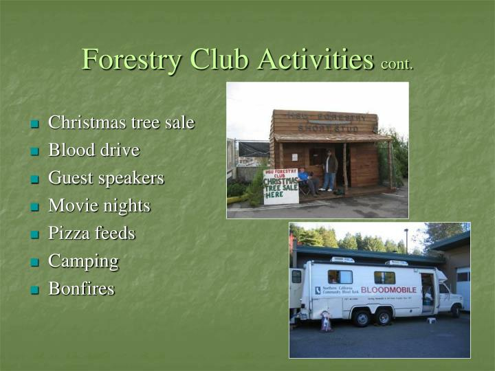 Forestry Club Activities
