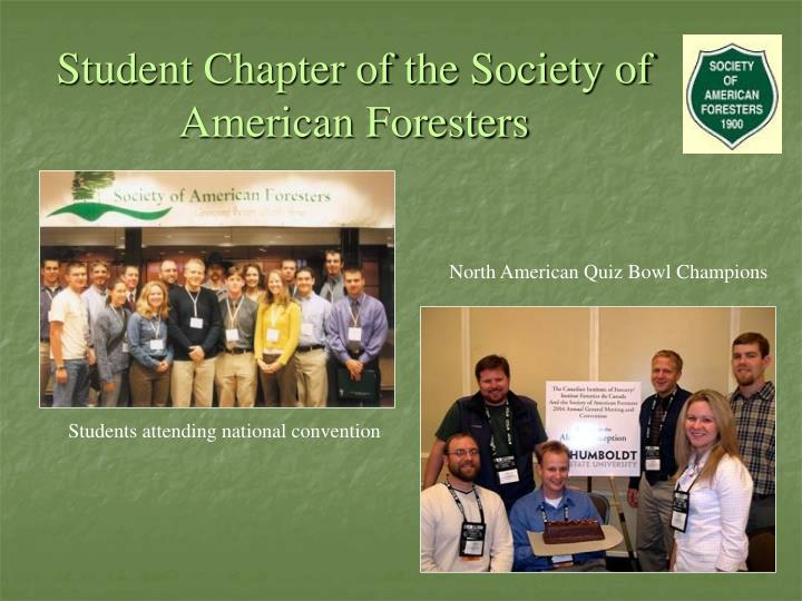 Student Chapter of the Society of American Foresters