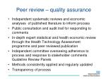 peer review quality assurance