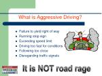 what is aggressive driving