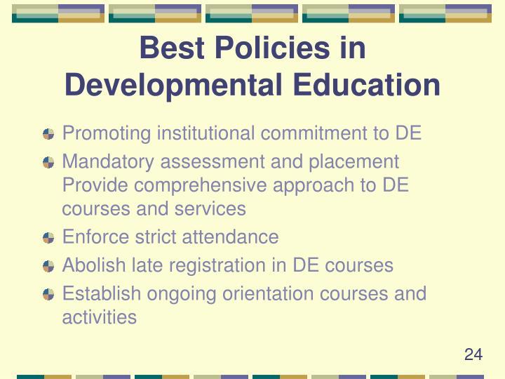 Best Policies in Developmental Education