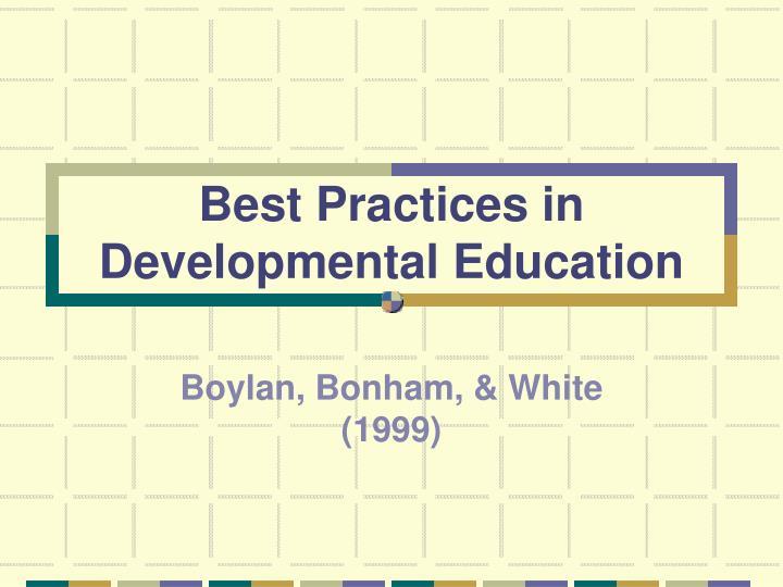 Best Practices in Developmental Education