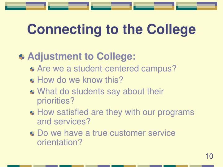 Connecting to the College