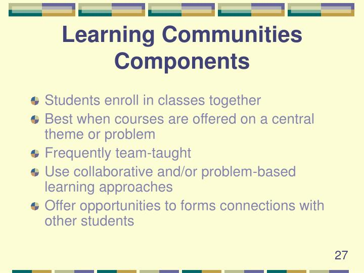 Learning Communities Components