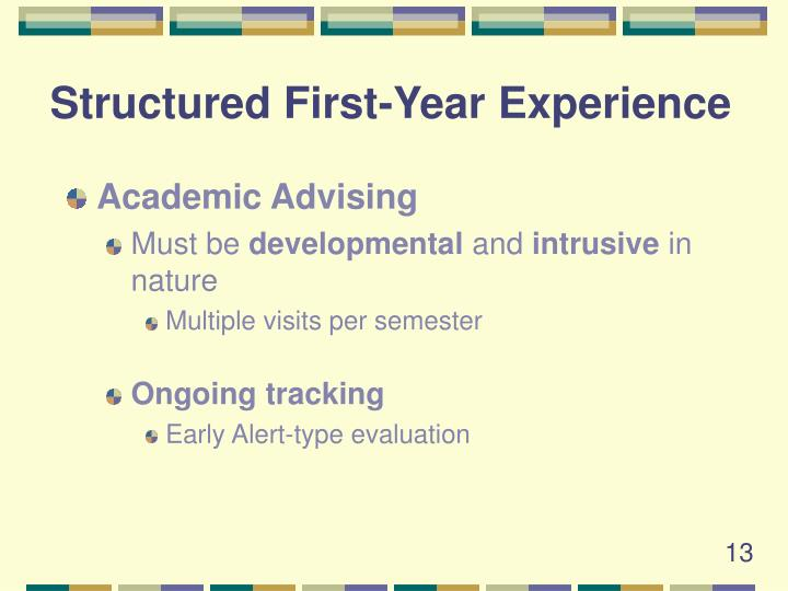 Structured First-Year Experience
