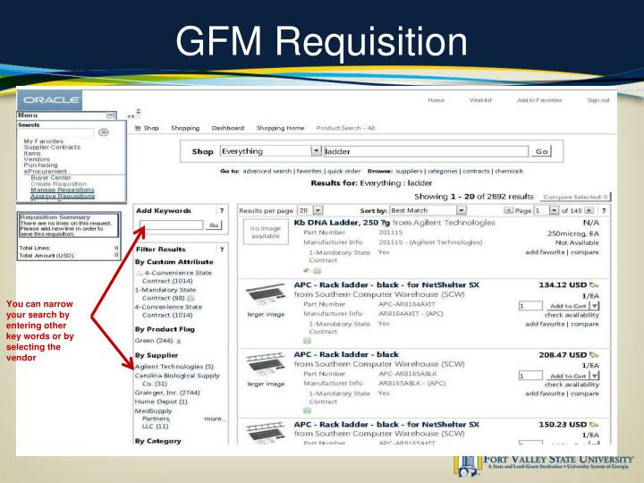 GFM Requisition