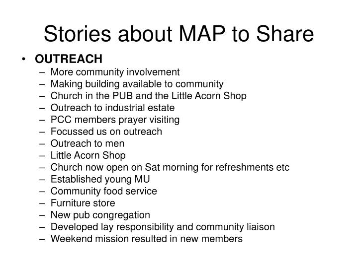 Stories about MAP to Share