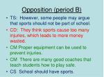 opposition period b