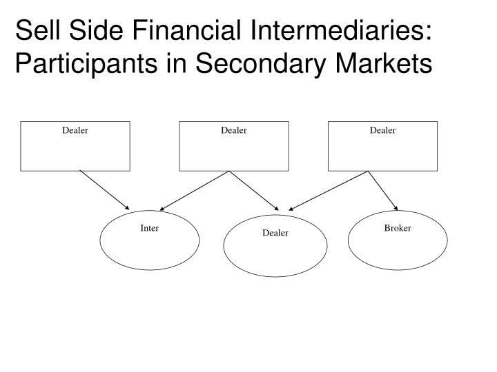 Sell Side Financial Intermediaries: Participants in Secondary Markets