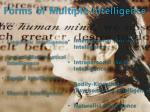 forms of multiple intelligence
